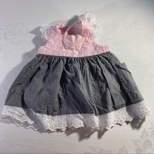 4/$20 Stellybelly baby dress lace cross back 3M
